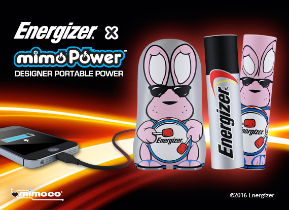 Energizer Bunny x MimoPower Backup Battery Chargers