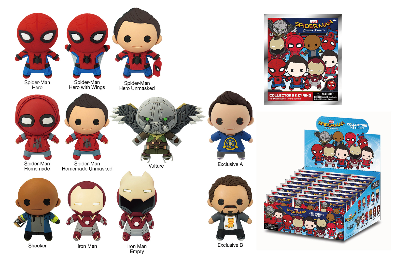 Spider-Man Homecoming Keyring Collection
