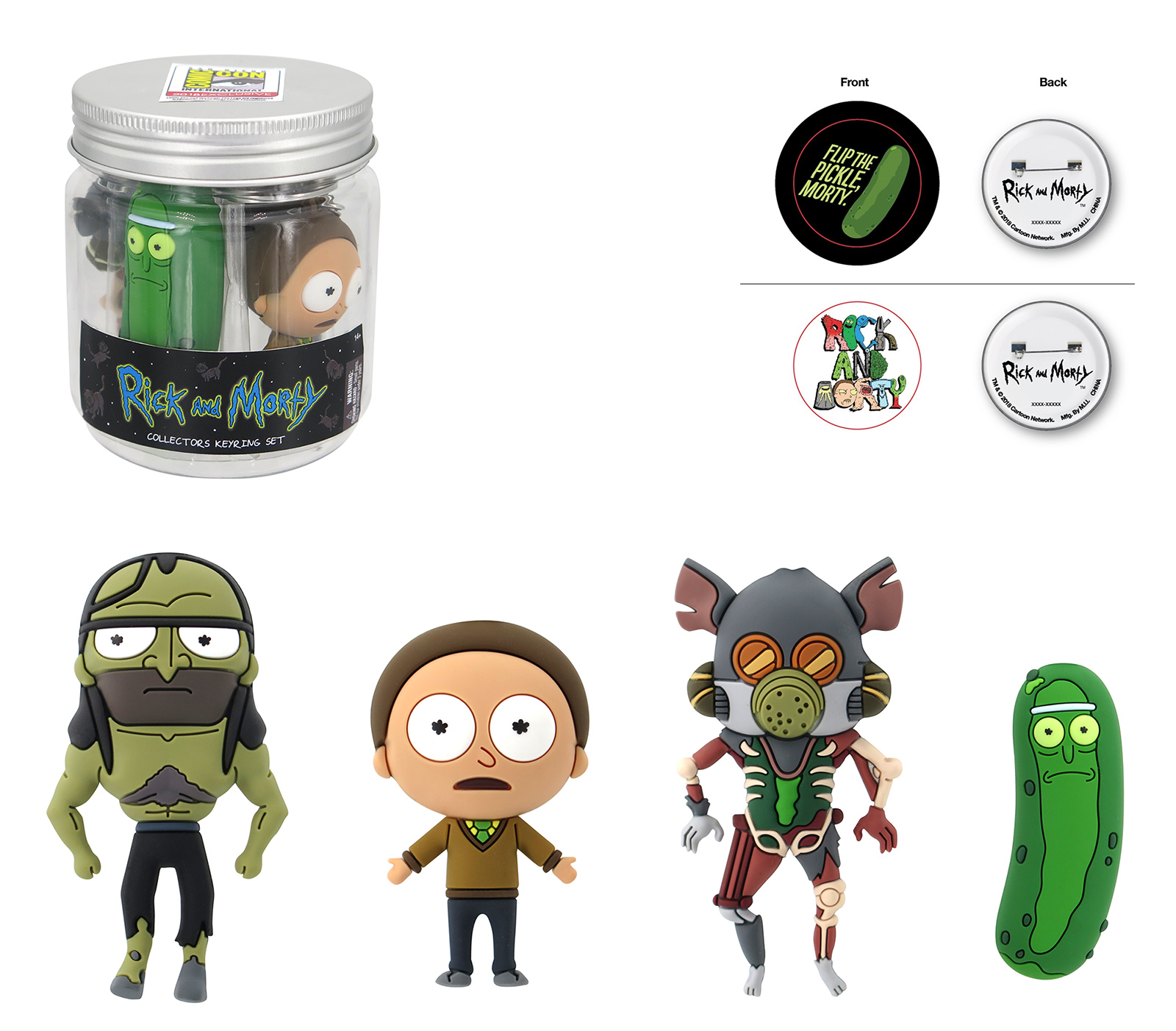 """Rick and Morty """"Pickle Rick"""" Themed Gift Jar"""