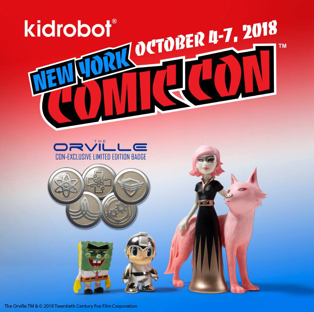 NYCC18: Kidrobot Exclusive, Events, and Signings