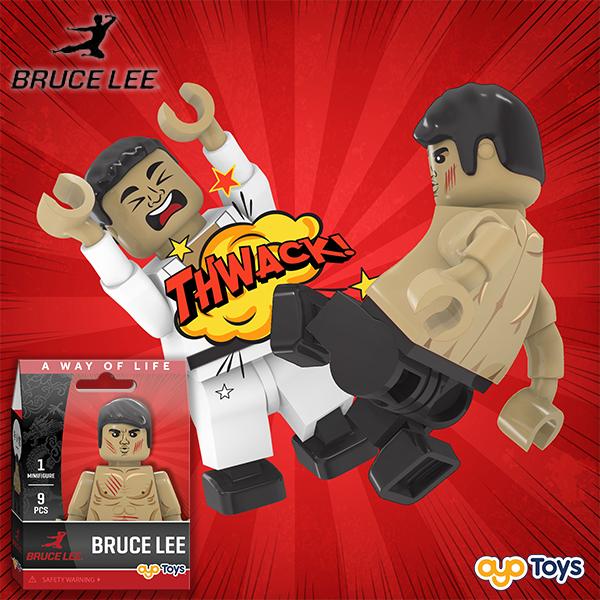 "Bruce Lee ""Scratches"" OYO Minifigure"