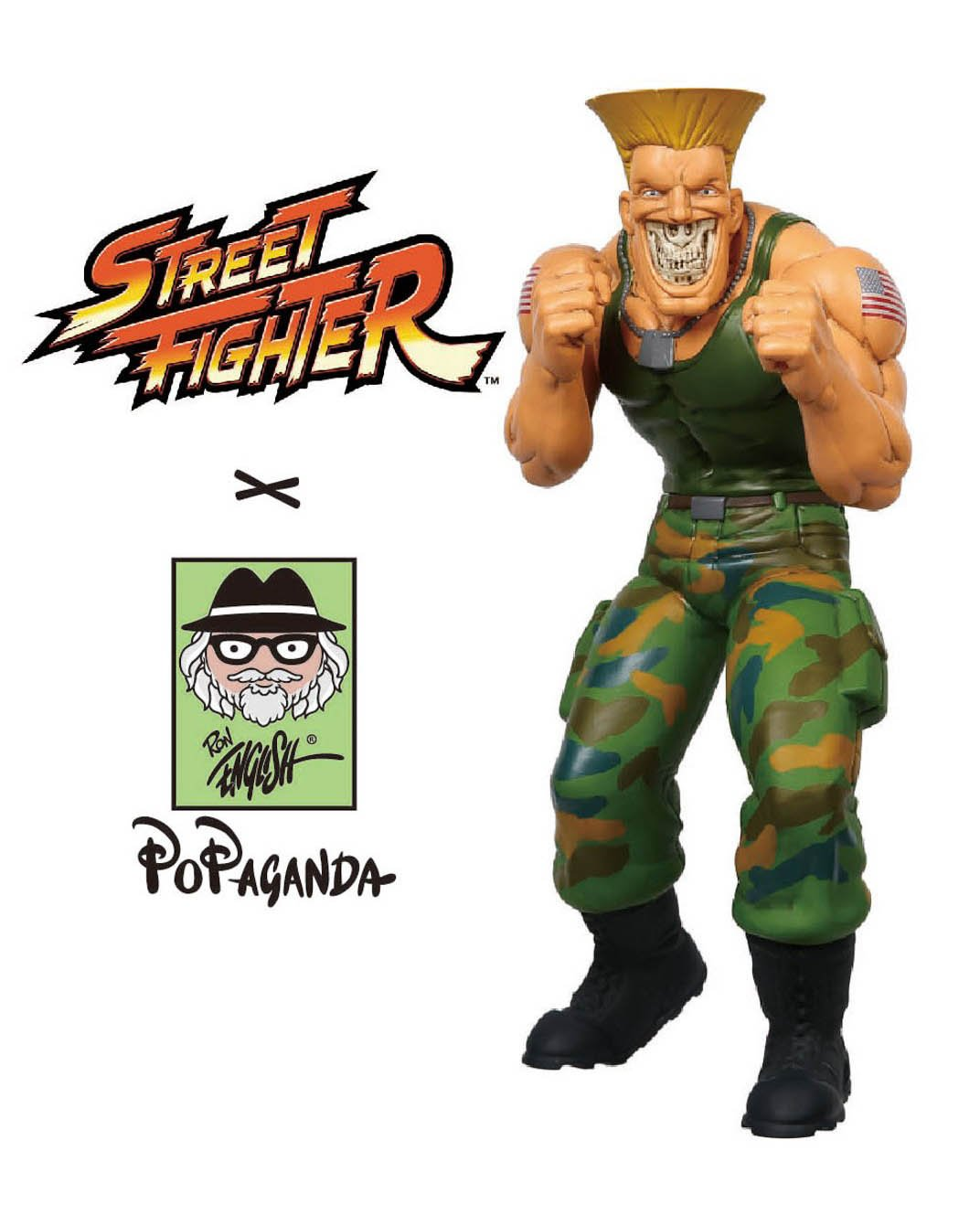 Street Fighter x Ron English – Guile Grin