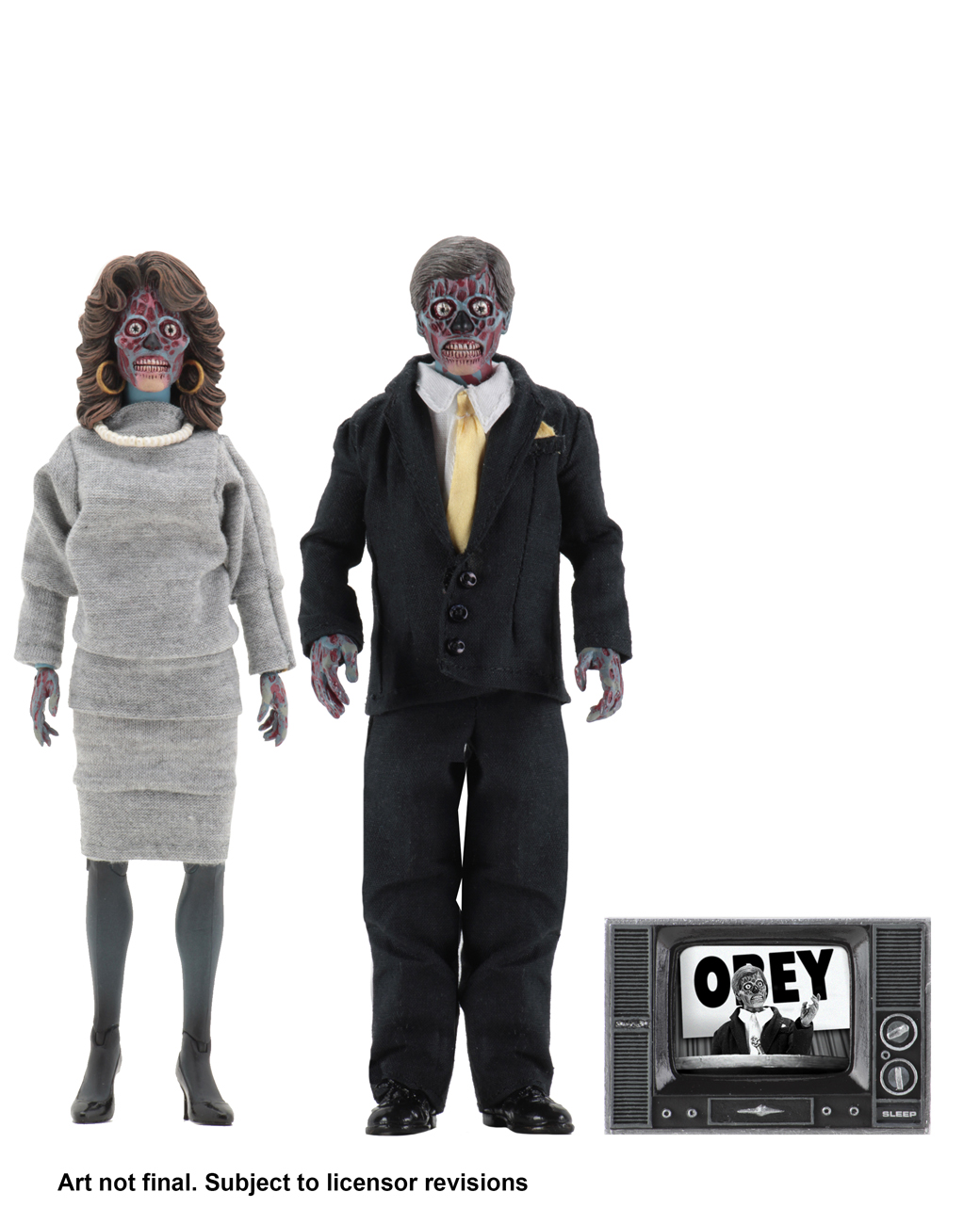 They Live – 8-inch Clothed Action Figures – Alien 2 Pack