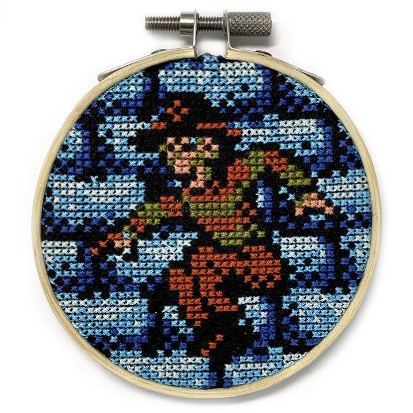 Stitchbit – A Nightmare On Elm StreetNES Cross-stitch Wall Art